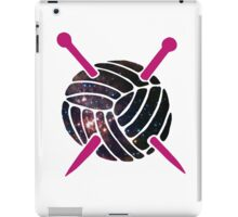 Galaxy Wool with Pink Knitting Needles iPad Case/Skin
