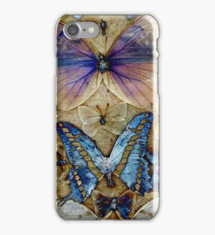 Antique Butterfly Enhanced Collection  iPhone Case/Skin