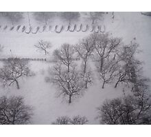 Blizzard in New York City  Photographic Print