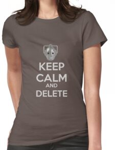 Keep Calm And Delete  Womens Fitted T-Shirt
