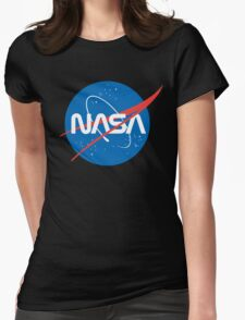 NASA Future Retro Womens Fitted T-Shirt