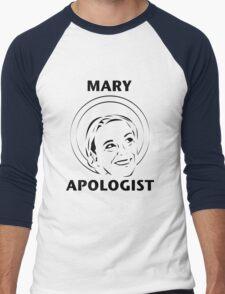 Mary Apologist (w/ halo) Men's Baseball ¾ T-Shirt
