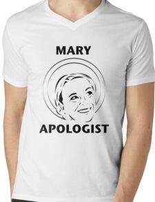 Mary Apologist (w/ halo) Mens V-Neck T-Shirt