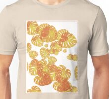 Monstera Leaves (Gold) Unisex T-Shirt