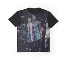 Kevin Durant Russell Westbrook  Oklahoma City Thunder NBA Graphic T-Shirt