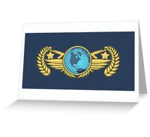 Global Elite Emblem V2 Greeting Card