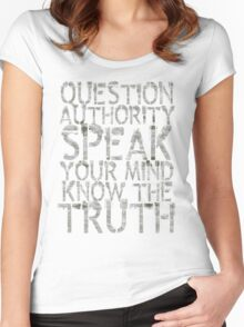 Question Authority Women's Fitted Scoop T-Shirt