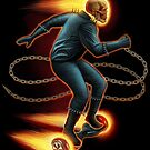 Ghost Rider on a hover board by Matt Curtis