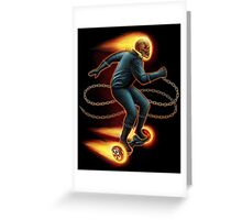 Ghost Rider on a hover board Greeting Card