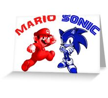 Mario & Sonic, 90's best friends Greeting Card