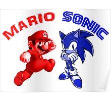 Mario & Sonic, 90's best friends Poster