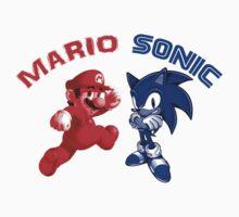 Mario & Sonic, 90's best friends One Piece - Short Sleeve