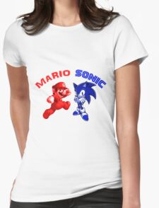 Mario & Sonic, 90's best friends Womens Fitted T-Shirt