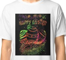 Happy Easter Day poster. Classic T-Shirt