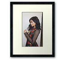 Kylie Jenner Roses Framed Print