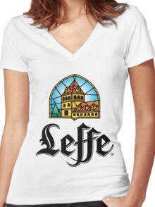 Leffe - Beer Women's Fitted V-Neck T-Shirt