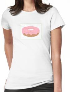 Pink doughnut with sprinkles Womens Fitted T-Shirt