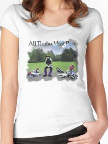 All Things Must Pass Album Women's Fitted Scoop T-Shirt