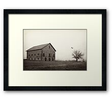 Filley Stone Barn 2 Framed Print