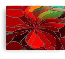 Abstract Poinsettia Canvas Print