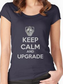 Keep Calm And Upgrade Women's Fitted Scoop T-Shirt