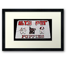 lets pet puppies Framed Print