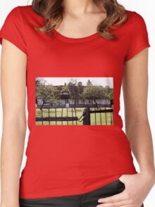 Paysages Normandie LOVE  landscapes 21 (c)(t) canon eos 5 by Olao-Olavia / Okaio Créations   1985 Women's Fitted Scoop T-Shirt