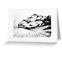 Mountain Litho Greeting Card
