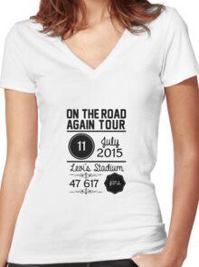 11th July - Levi's Stadium OTRA Women's Fitted V-Neck T-Shirt
