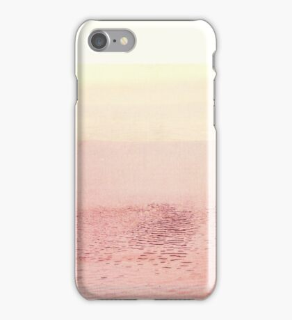 Pink Layered Water Scape, Minimal Abstract Photography #redbubble iPhone Case/Skin