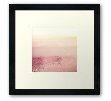 Pink Layered Water Scape, Minimal Abstract Photography #redbubble Framed Print