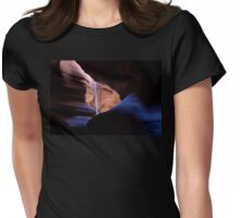 Blue River of Light Womens Fitted T-Shirt
