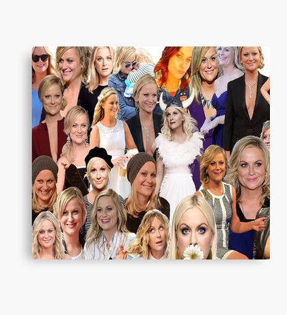 Amy Poehler Collage Canvas Print
