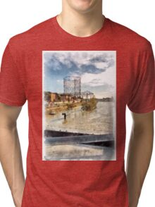 Rome: Tiber River gasometer and industrial archeology Tri-blend T-Shirt