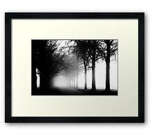 Eerie Path Framed Print