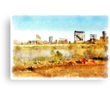 Rome: Tiber River industrial archeology Canvas Print