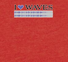 I Love Waves Tri-blend T-Shirt