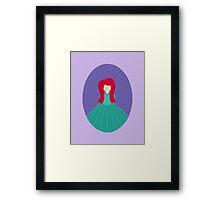 Simplistic Princess #5 Framed Print