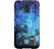 Lonely time travel phone box art painting Samsung Galaxy Case/Skin
