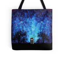 Lonely time travel phone box art painting Tote Bag