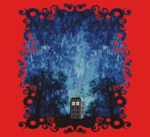 Lonely time travel phone box art painting One Piece - Long Sleeve
