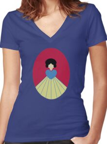 Simplistic Princess #6 Women's Fitted V-Neck T-Shirt