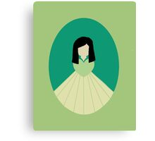 Simplistic Princess #7 Canvas Print