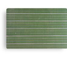 green, striped chalkboard  Canvas Print