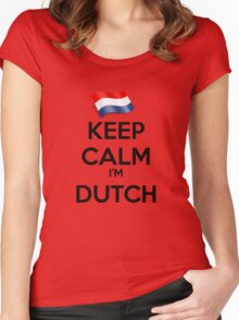 Keep Calm I'm Dutch Women's Fitted Scoop T-Shirt