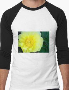 Yellow Peony Men's Baseball ¾ T-Shirt