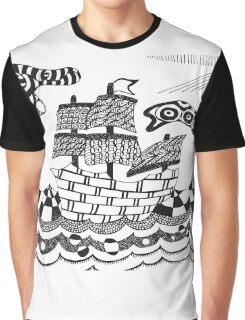 Zentangle ship Graphic T-Shirt
