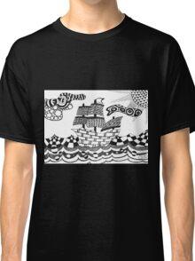 Zentangle ship Classic T-Shirt