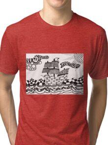 Zentangle ship Tri-blend T-Shirt