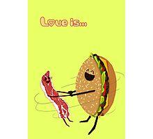 Love is... hamburger and bacon Photographic Print